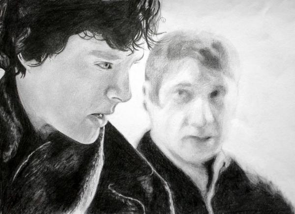 Martin Freeman, Benedict Cumberbatch by Wieker21